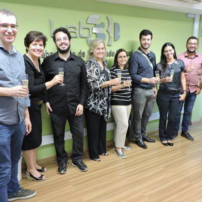 Foto da equipe do laboratório