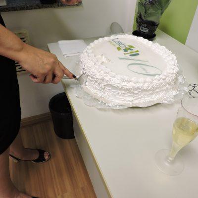 Foto do bolo para comemorar o aniversário de 10 anos